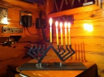 Fourth Night of Chanukah - afloat on our boat