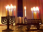 Fifth Night of Chanukah - miniature menorahs given to our kids when they were also miniatures